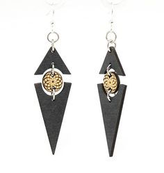 Laser cut wood earrings, Made in the USA from Sustainable Harvested trees. Diy Leather Earrings, Wood Earrings, Diy Earrings, Polymer Clay Earrings, Leather Jewelry, Terracota Jewellery, Laser Cut Wood, Laser Cutting, Laser Cut Jewelry