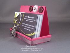 How to Make A Business Card Holder #diy #tutorial @Stephanie Francis Crawford   (For the office!?) lol
