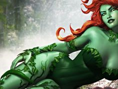 The hottest images and pictures of Poison Ivy, ranked by diehard fans. Drawing Poison Ivy has always brought out the best in artists. Poison Ivy Batman, Dc Poison Ivy, Poison Ivy Cosplay, Poison Ivy Costumes, Dc Universe Online, Poison Ivy Character, Comic Character, Batman Universe, Comics Universe