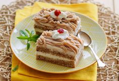 Kastanienschnitte Foto: A. Tiramisu, Ethnic Recipes, Food Blogs, Brownies, Cacao Powder, Cakes, Food Food, Sheet Metal, Tiramisu Cake