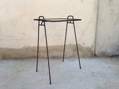 Image of Black Hairpin Side Table / Plant Stand