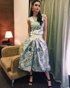 #DianaPenty she wins the fashion game in #AnkurModi&PriyankaModi skirt. #ampm