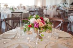 Elegant Pink & Red Vow Renewal via TheELD.com | Candi Coffman Photography