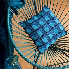 DIY coussin crochet
