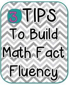 Tips to Build Math Fact Fluency Good post on how to effectively increase your students' math fact fluency. She has suggestions for math facts practice, games, and cooperative Tips to Build Math Fact Fluency Good post on how to effectively i Math Tutor, Teaching Math, Kindergarten Math, Teaching Ideas, Teaching Time, Creative Teaching, Math Fact Practice, Math Fact Fluency, Fluency Games