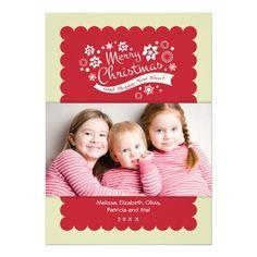 Custom Merry Christmas Photo Card