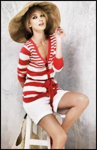 BHS Cardigan £25, Cotton Shorts £20, Bag £12, from the BHS Womenswear Spring/Summer 2008 ranges.  Nautical fashions at fashion-era.