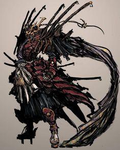 Fantasy Character Design, Character Concept, Character Art, Warrior Concept Art, Armor Concept, Fantasy Armor, Dark Fantasy Art, Mascara Oni, Castlevania