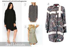 spring essentials shirt dresses