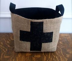 Coffee Sack Cross Basket