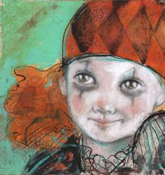 Little Halloween Harlequin Smiles -- Maria Pace-Wynters