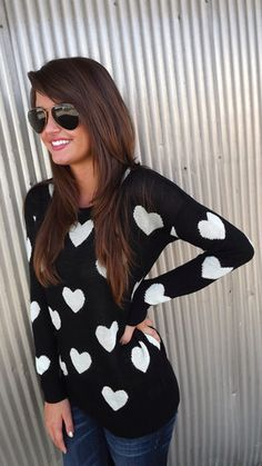 Hearts All Over Sweater