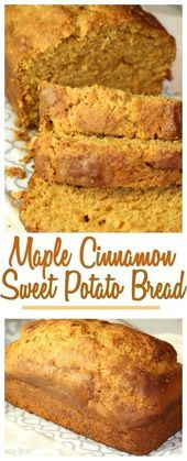 This Maple Pecan Sweet Potato Bread is perfect for breakfast OR for lunch. The s… This Maple Pecan Sweet Potato Bread is perfect for breakfast OR for lunch. The subtle flavor of cinnamon, ginger and maple wrapped into one loaf. Quick Bread Recipes, Baking Recipes, Canned Sweet Potato Recipes, Sweat Potato Recipes, Sweet Potato Toppings, Syrup Recipes, Loaf Recipes, Pecan Recipes, Baking Tips