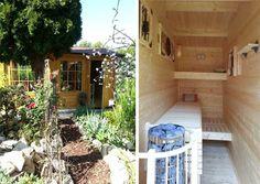 Eine Sauna im Gartenhaus