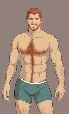Cartoon Drawing Gay Male
