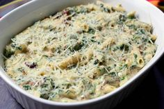 Spinach Parmesan with Pasta