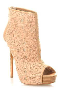 Booties In Almond Lace.