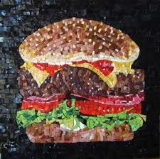 Cool burger mosaic