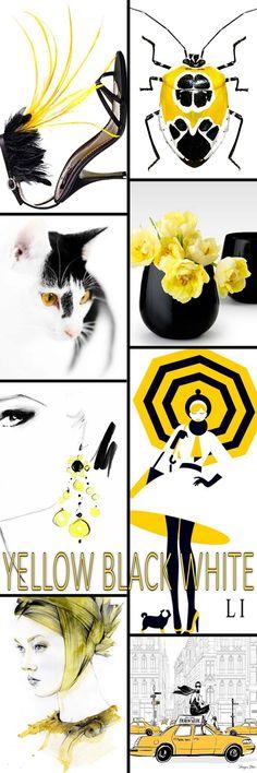 yellow | black | white ღ Lu's Inspiration
