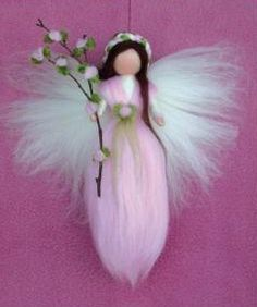 Links to great wool felting books and tutorial Waldorf Crafts, Waldorf Dolls, Wool Dolls, Felt Dolls, Fairy Crafts, Felt Crafts, Felt Angel, Needle Felting Tutorials, Felt Fairy