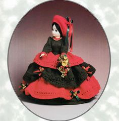 Knitted Doll's Dress ... Christmas Belle by ChicVintagePatterns