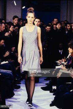Model walking the Helmut Lang Fall 1995 RTW collection. (Photo by Guy Marineau/Condé Nast via Getty Images)  Cecilia Chancellor