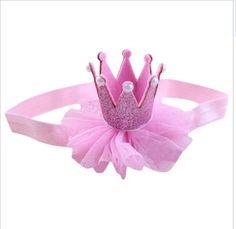 Tiara Crown Headband hairband Pink 1st Birthday Princess Cake smash Christmas  | eBay