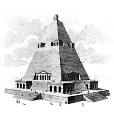 Architectural invention/reconstruction of a Theban Pyramid by Johann Bernhard Fischer von Erlach as part of his attempt to document the history of architecture Inventions, Egypt, History, World, Drawings, Building, Places, Architecture Design, Travel