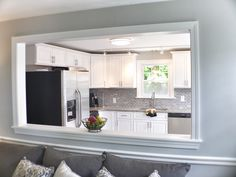 The Unexplained Mystery Into Open Concept Kitchen Room Design Ideas - bdarop Living Room Kitchen, Small Living Room Design, Living Room Remodel, Home Remodeling, Home Decor, Room Remodeling, Half Wall Kitchen, Living Room Wall, Dining Room Decor