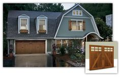 Canyon Ridge Wood Garage Doors: Full cladding and overlay faux wood Canyon Ridge doors combine the beauty and texture of natural wood with the energy efficiency of an insulated steel door.