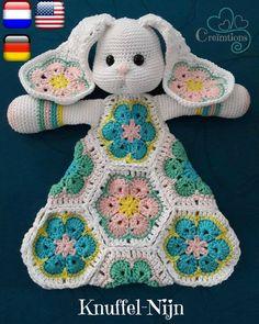 Ideas For Crochet Baby Patrones Photo Props Crochet Security Blanket, Crochet Lovey, Crochet Amigurumi, Crochet Bunny, Crochet For Kids, Crochet Dolls, Crochet Flowers, African Flower Crochet Animals, Crochet Animal Patterns
