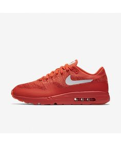sneakers for cheap 82024 d7da7 Nike Air Max 1 Mens Ultra Flyknit Bright Crimson University Red Bright  Mango White Shoes Outlet