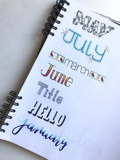 Bullet journal headers