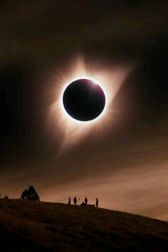 Solar eclipse as seen from Grand Teton national park, northwestern Wyoming