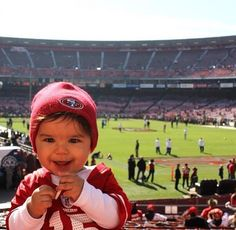 Probably the cutest 9ers fan I've ever seen!