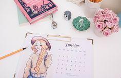 Que tal começar 2017 se organizando e planejando seu ano? Pra te ajudar, disponibilizei no blog mais de 20 calendários incríveis pra baixar e imprimir!