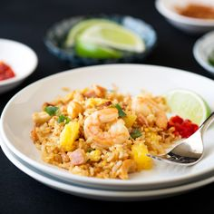 This Thai Pineapple Fried Rice is simple yet packed with flavor. It can be whipped in a jiffy and beats take out any day.