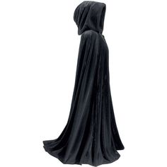 Full Length Velvet Cape ($100) ❤ liked on Polyvore featuring outerwear, blue cape, gothic cape, cape coat, full length cape and blue cape coat