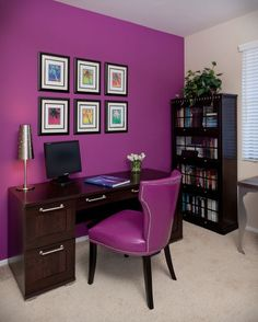 I'd love to have this room. My space has similar colors but is in need of organization! (Lynch DesGrp/Wayfair)