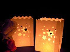 Estrela + saco de papel craft + Vela