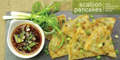 Scallion Pancakes make a delicous flatbread side dish to many Asian recipes. Scallion Pancakes, Savory Pancakes, Asian Recipes, Ethnic Recipes, Quick Bread, Breads, Side Dishes, Breakfast, Food