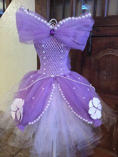Sofia the first dress tutu dress girls by Stinkerbellssparkles