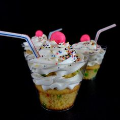 Milk Shake Cupcakes in a Cup