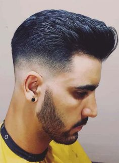 Low Taper Fade Pompadour - With this type of haircut, the faded length from the hair top increases from 2 inches. Hairs will fade just one inch above the normal hairline of the wearer. Take a look at some cool Visit Our Site for more Cool Content for and Mens Hairstyles Fade, Cool Hairstyles For Men, Haircuts For Men, Men's Haircuts, Popular Haircuts, Men's Hairstyles, Pompadour Fade, Pompadour Hairstyle, Tape Up Haircut