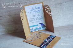 Caixa Rústica: Convite Bird 〰 Inove com a Caixa Rústica e surpreenda convidados!  ∴ Solicite seu orçamento! www.caixarustica.com  #convite #kraft #casamento #rustico #invitation #rustic #wedding #papelaria #vintage #reciclado #floral #boho #blue #azul