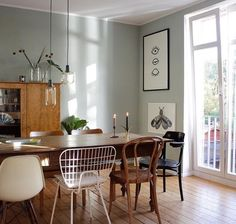 We love the wall color and style mix in member @ swantjeundfrieda& dining room . - We love the wall color and style mix in member @ swantjeundfrieda& dining room! Furniture, Room, Interior, Interior Furniture, Home Decor, House Interior, Dining Room Decor, Interior Design, Home And Living