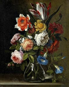 Unknown (Dutch)  Flowers in a Vase  18th century. Welcome to my gardening blog http://www.facebook.com/flowerindoorgardening #flower