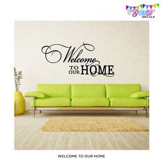 Perfect for welcome area or front room family quote vinyl wall decal. super deal 48% off regular price!