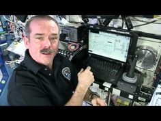 - How do you control the International Space Station? CSA Astronaut Chris Hadfield answers these questions from inside the heart o. Space Tourism, Space Travel, Hubble Space Telescope, Space And Astronomy, Science Demonstrations, Chris Hadfield, English Resources, Information And Communications Technology, Canadian History