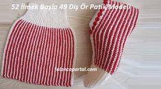 52 İlmek Başla 49 Diş Ör Patik Modeli #örgü #örgümodelleri #knitting #örgüpatik